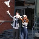 verhuur witte duiven