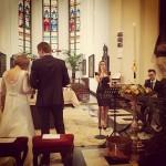live zangeres huwelijk